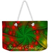 Christmas Ribbons Weekender Tote Bag