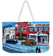Christmas Shopping In Concord Center Weekender Tote Bag