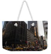 Christmas Shopping On The World Famous Fifth Avenue Weekender Tote Bag