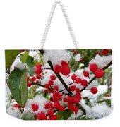 Christmas Snow Weekender Tote Bag