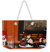 Christmas - Snowmen Collection- Fireplace Weekender Tote Bag