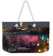 Christmas Spirit At Niagara Falls Weekender Tote Bag