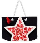 Christmas Star Weekender Tote Bag by Anne Gilbert