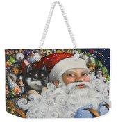 Christmas Stowaway Weekender Tote Bag