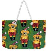 Christmas Teddies Weekender Tote Bag