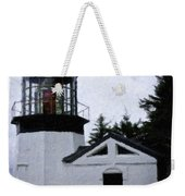 Christmas Time At Cape Meares Lighthouse Weekender Tote Bag
