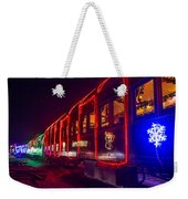 Christmas Train Weekender Tote Bag