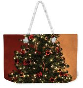Red And Gold Christmas Tree Without Caption Weekender Tote Bag