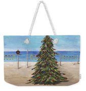 Christmas Tree At The Beach Weekender Tote Bag