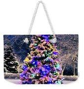 Christmas Tree In Snow Weekender Tote Bag