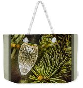 Christmas Tree Light Weekender Tote Bag