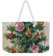 Christmas Tree Weekender Tote Bag by Victoria Kharchenko