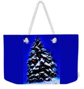 Christmas Tree With Red Ball Weekender Tote Bag