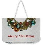 Christmas Wreath And Vintage Bulbs Weekender Tote Bag