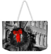 Christmas Wreath In Charleston Weekender Tote Bag