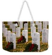 Christmas Wreaths Laid At The Arlington Cemetery Weekender Tote Bag
