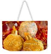 Christmasball Cupcakes In Red Weekender Tote Bag