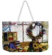 Christmastime Folk Art Fantasia Weekender Tote Bag