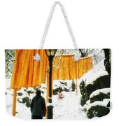 Christo - The Gates - Project For Central Park In Snow Weekender Tote Bag