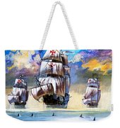 Christopher Columbus's Fleet  Weekender Tote Bag