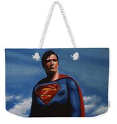 Christopher Reeve As Superman Weekender Tote Bag