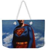 Christopher Reeve As Superman Weekender Tote Bag by Paul Meijering