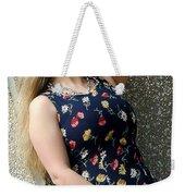 Christy Blue Minidress-40-2 Weekender Tote Bag