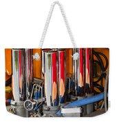 Chrome Colored Stacks Weekender Tote Bag