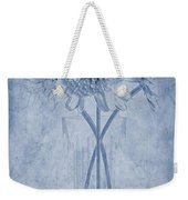 Chrysanthemum Cyanotype Weekender Tote Bag