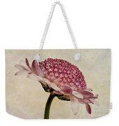 Chrysanthemum Domino Pink Weekender Tote Bag