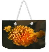 Chrysanthemum Gently Floating In The Fountain Of Campo De Fiori - Rome - Italy Weekender Tote Bag