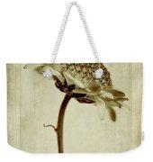 Chrysanthemum In Sepia Weekender Tote Bag