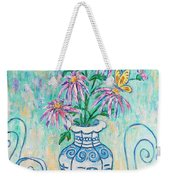 Chrysanthemum Study With Chinese Symbols  Weekender Tote Bag