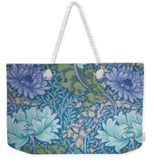 Chrysanthemums In Blue Weekender Tote Bag