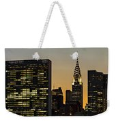 Chrysler And Un Buildings Sunset Weekender Tote Bag