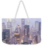 Chrysler Building And Skyscrapers Covered In Snow - New York City Weekender Tote Bag