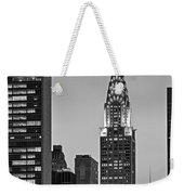 Chrysler Building New York City Bw Weekender Tote Bag