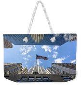 Chrysler Building Reflections Horizontal Weekender Tote Bag