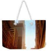 Chrysler Building Rises Above New York City Canyons Weekender Tote Bag