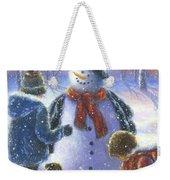 Chubby Snowman  Weekender Tote Bag
