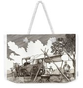Chuckwagon Cattle Drive Breakfast Weekender Tote Bag