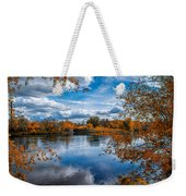 Church Across The River Weekender Tote Bag by Bob Orsillo