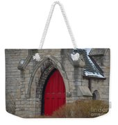 Church And The Red Door Weekender Tote Bag
