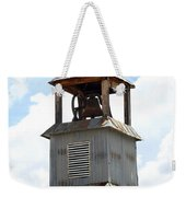 Church Bell Tower In Truchas In New Mexico Weekender Tote Bag
