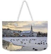 Church By Tjornin Pond Weekender Tote Bag