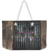 Church Doors And Flowers Weekender Tote Bag