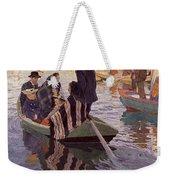 Church-goers In A Boat Weekender Tote Bag