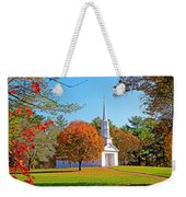 Church In Autumn Weekender Tote Bag