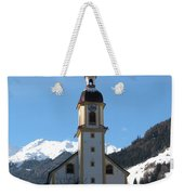 Church In The Austrian Alps Weekender Tote Bag