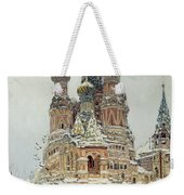 Church Of St. Basil In Moscow Weekender Tote Bag